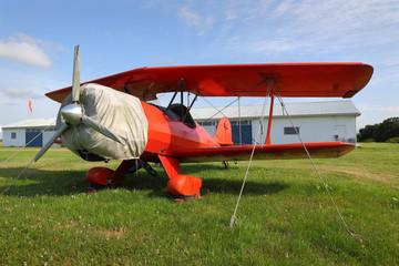 Vintage Red Biplane
