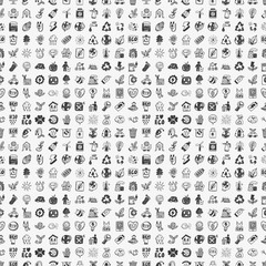 seamless doodle eco pattern