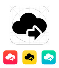 Cloud computing with next arrow icon.