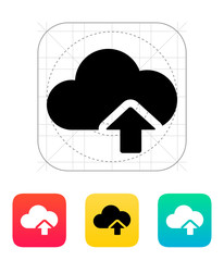 Cloud computing upload icon.