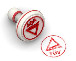 Знак качества TUV. Печать и оттиск