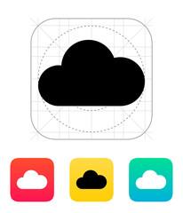 Cloud computing icon.