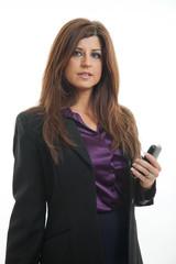 Pretty brunette hispanic businesswoman in her forties
