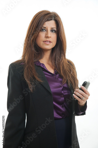 Pretty brunette hispanic businesswoman in her forties