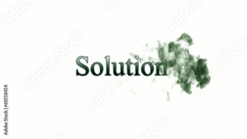 Solution dark green Fog