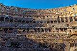 Interior Coliseum in Rome at sunset