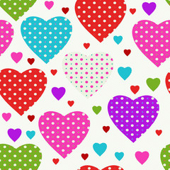 Colorful seamless valentine pattern