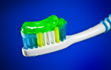 toothbrush on a dark blue background