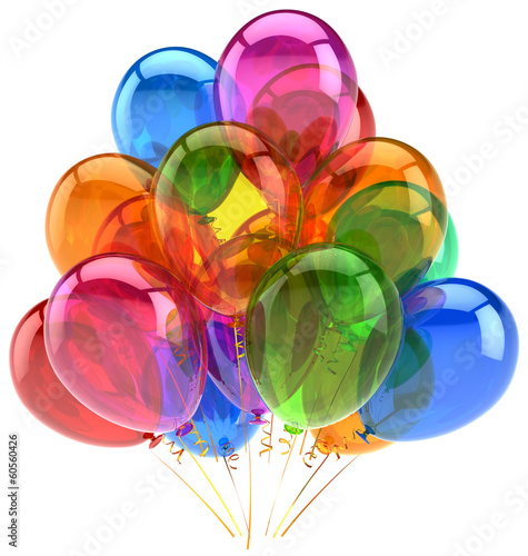Balloons party birthday balloon decoration colorful translucent