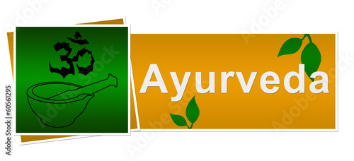 Ayurveda Green Brown Two Squares