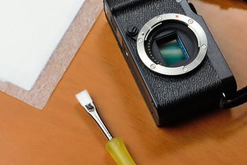 Pulizia sensore di una fotocamera digitale