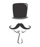 whiskers guy mustache poster