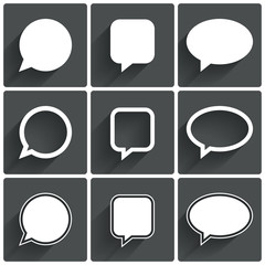 Speech bubble icons. Think cloud symbols.
