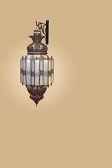 Traditional Arab wall lamp