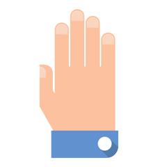 Hand flat