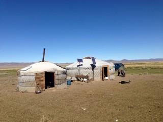 Yurts in Mongolia
