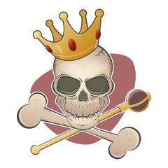 totenkopf krone schädel