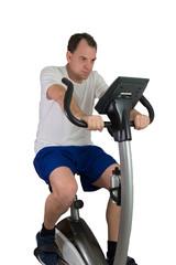 Mann macht Fitness für die Gesundheit