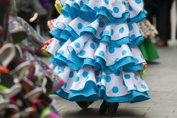 skirts of Spanish Flamenco dancers