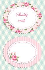 Shabby chic ovals 2