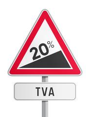 Panneau hausse de la TVA à 20%