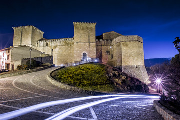 Medieval castle in Rubielos Mora, Teruel, Spain.
