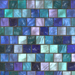 mosaic in the bathroom
