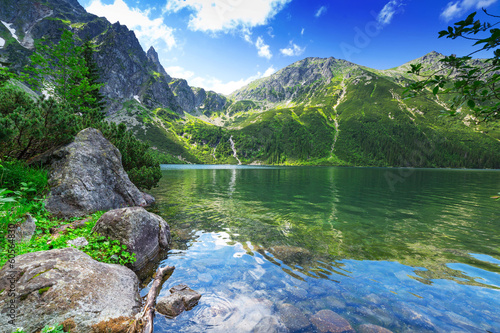 Eye of the Sea lake in Tatra mountains, Poland - 60564830