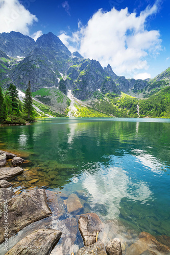 Eye of the Sea lake in Tatra mountains, Poland - 60564894