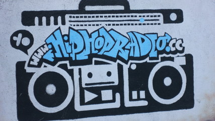 Hip Hop Radio Boom-box Graffiti