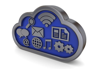 Cloud and Icons - 3D