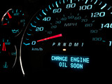 Change engine oil soon warning light on dashboard