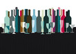 Spirituosen und Weinflaschen