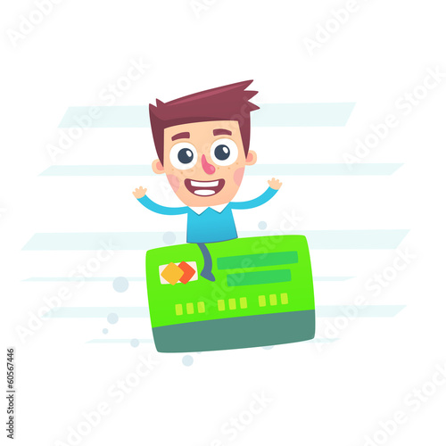 It is easy to travel with a plastic card with a funded system