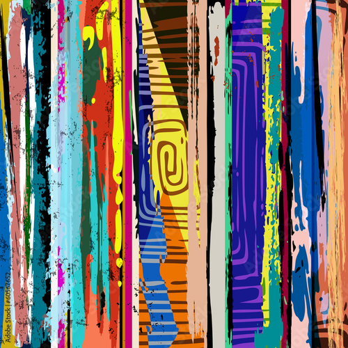 Plakat abstract background composition, with strokes, splashes and geom