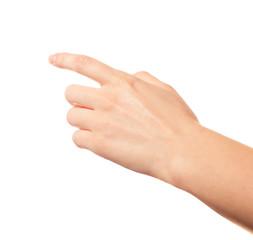 That way. Human hand