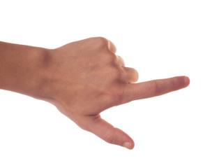 Gesturing one hand