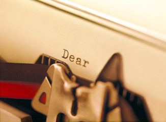 typewriter and letter