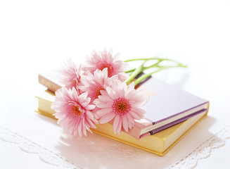 book and bouquet