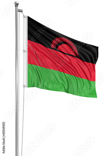 3D flag of Malawi