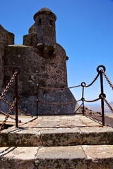 step arrecife  drawbridge  lanzarote   tower and door  in teguis