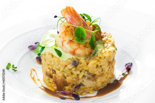 Risotto with shrimps and mushroom