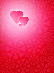Heart shaped background for St. Valentine's Day