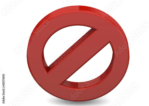 PROHIBITION SIGN - 3D