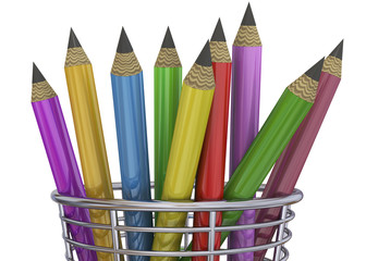 Colorful Pencils - 3D