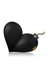 Heart-shape bomb icon