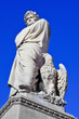 nineteenth century sculpture of Dante Alighieri in Florence, Ita