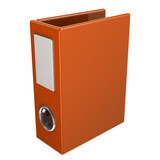 Orange office archive folder, 3d