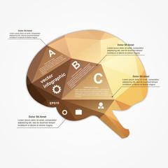 Brain infographic. Vector illustration.