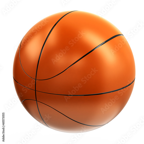 Orange basketball ball, 3d